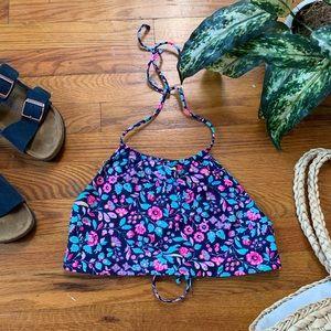 {Aerie} Floral Halter Bikini Top